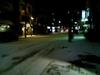 夜の雪街並