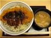 ソースカツ丼+とん汁