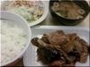 茄子と豚肉の辛味噌炒め定食