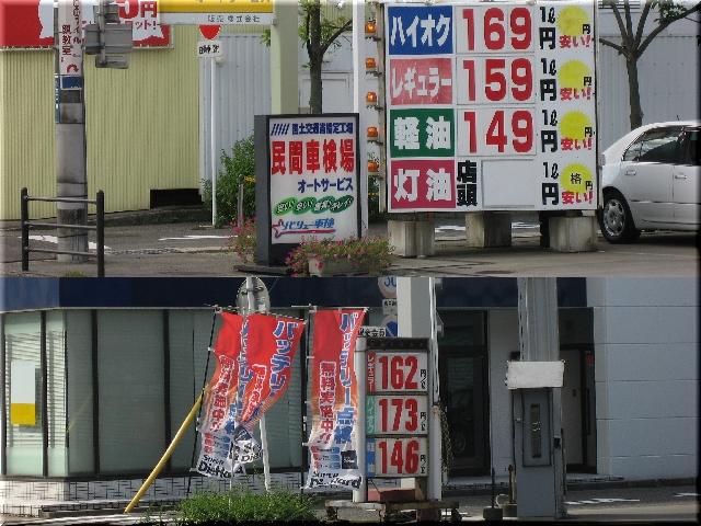 値下がりしたガソリン価格⇒9月
