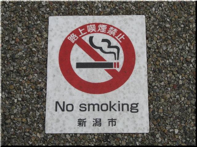 新潟市ぽい捨て及び路上喫煙の防止条例・施行