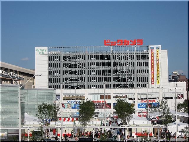 新潟駅南口中央広場風景