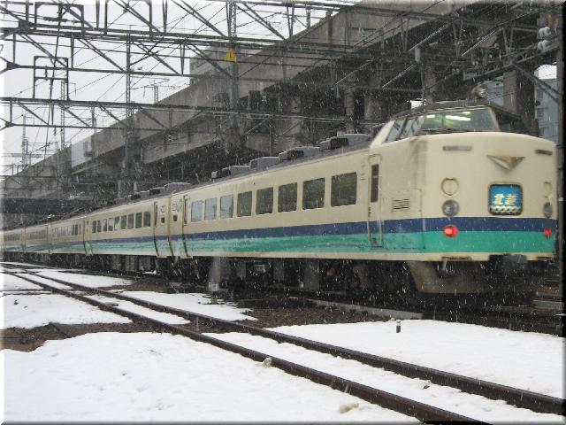 481系1000番特急・北越(新潟駅付近)