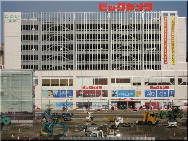 駅南再開発・完成したCoCoLo南館(ビックカメラ)