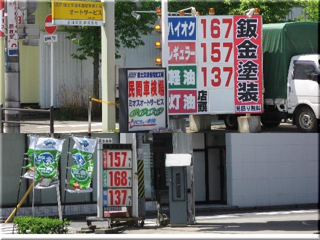 急上昇したガソリン価格⇒4月