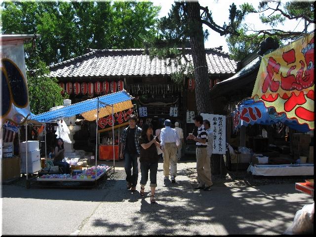 蒲原祭り・神社境内