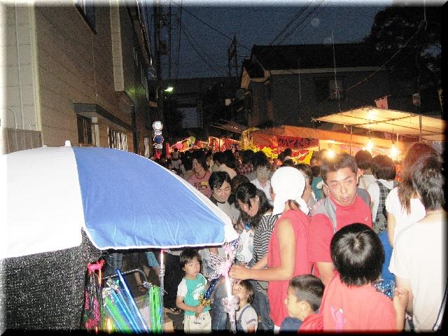蒲原祭り・夕方の風景