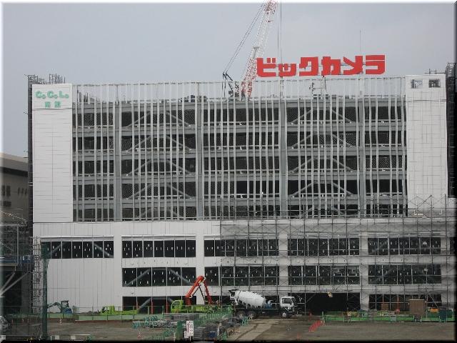 新潟駅全面高架化工事・「ビッ」は「ビックカメラ」⇒6月