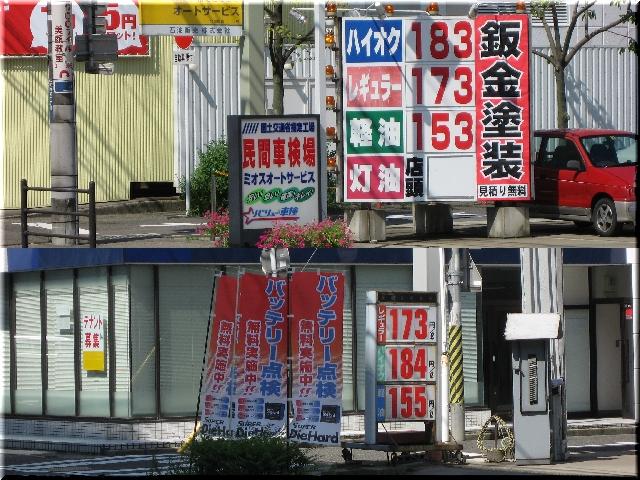 値下がりしたガソリン価格⇒8月