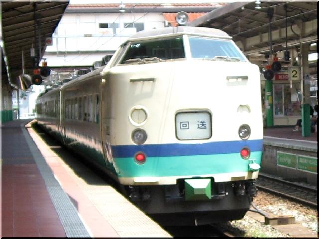 481系1000番回送電車