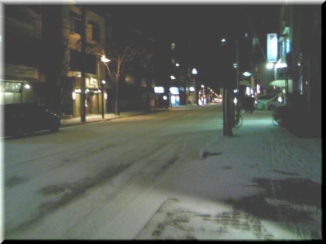 雪の真夜中
